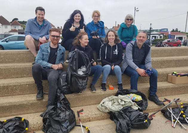 The network taking a rest after doing the big beach clean